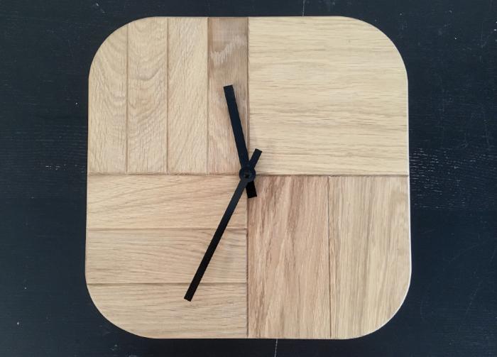 wooden design clock houten klok